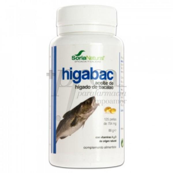 HIGABAC ACEITE DE HIGADO DE BACALAO 125 PERLAS