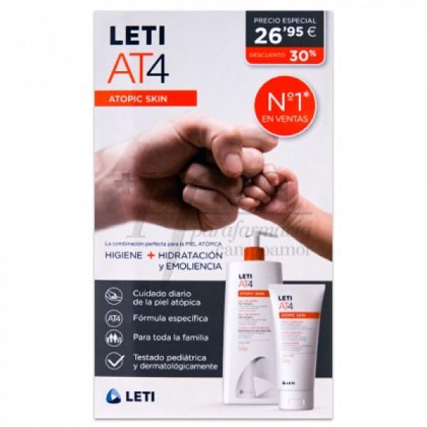 LETI ATOPIC PIEL AT4 GEL 750ML+CREMA 200ML PROMO