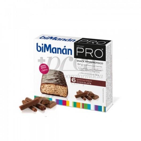 BIMANAN PRO BARRITAS CHOCOLATE 6 UDS