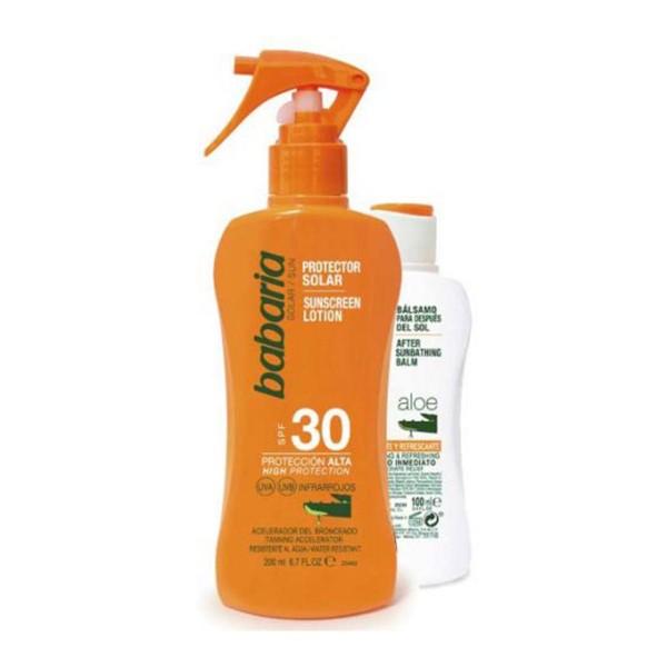 Babaria aloe vera spray spf30 200ml vaporizador + after sun 100ml