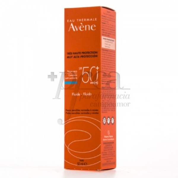 AVENE FLUIDO SPF50 TOQUE SECO P/MIXTA 50ML