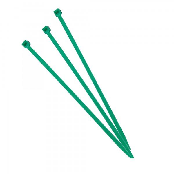 Brida nylon verde 4,5x280 mm. (100 un.)