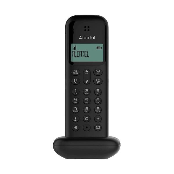 Alcatel D285 negro teléfono fijo inalámbrico sencillo y elegante