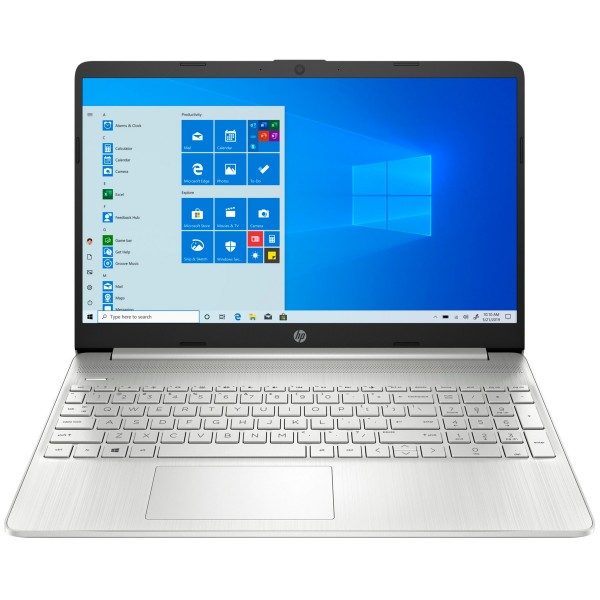 Hp laptop 15s-eq1090 plata portátil 15.6'' hd amd ryzen 5-4500u 256gb ssd 8gb ram windows 10 home