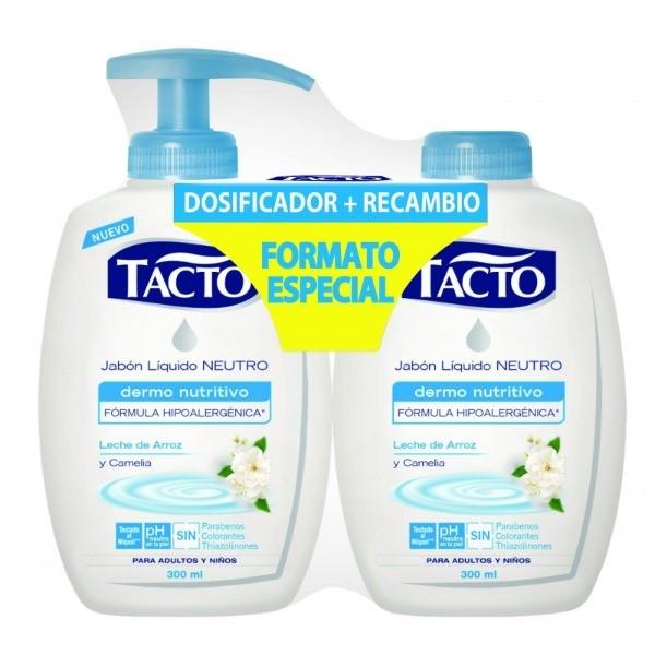 Tacto jabón de manos Dermo Nutritivo dosificador + recambio 300 ml