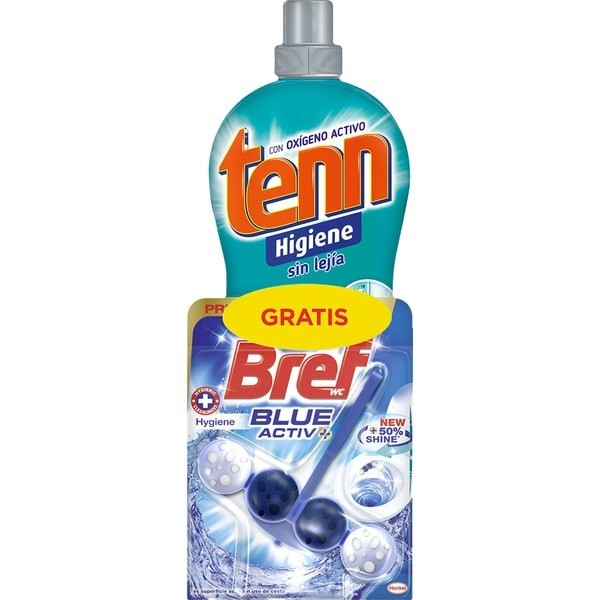 Tenn higienizante Multiusos sin lejía 1250 ml + Bref wc Blue Activ 1 ud